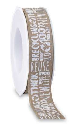 Eco- Band aus 100% recyceltem Material 25 mm x 20 m - 1008552520501