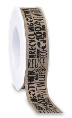 Eco- Band aus 100% recyceltem Material 25 mm x 20 m - 1008552520513