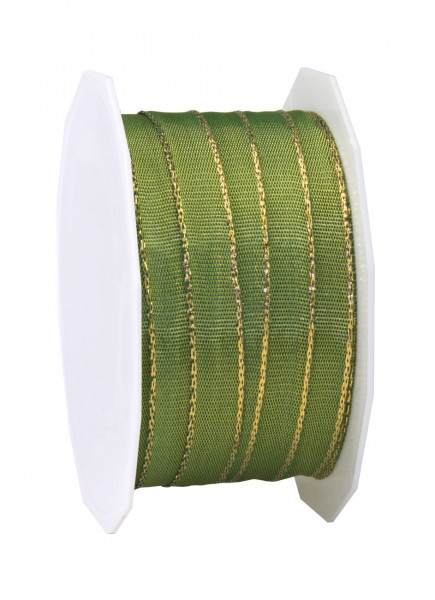 Taftband mit glänzender Drahtkante 10 mm x 25 m