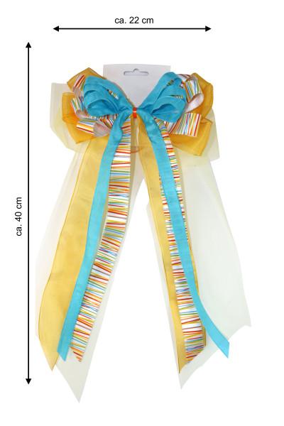 Schultütenschleife bunt 22 cm Breite x 40 cm Länge