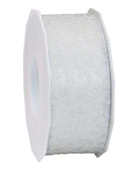 Dekorationsband Drahtkante - Motiv 40 mm x 20 m