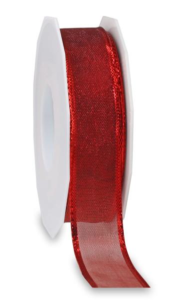 Lurexband mit glänzender Drahtkante 25 mm x 20 m