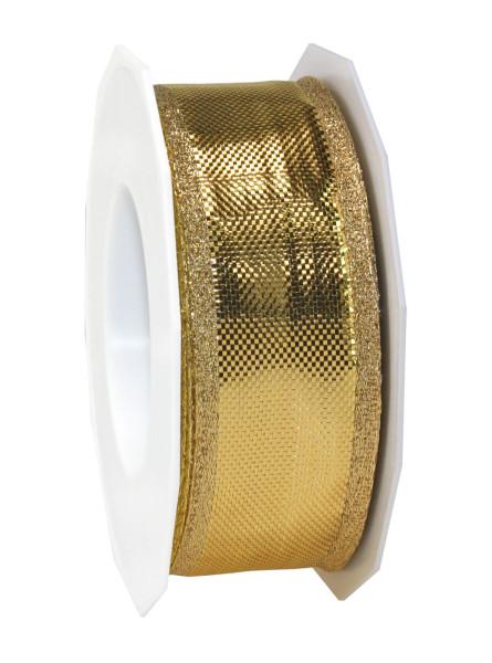 Seidenband mit Drahtkante - glänzend 40 mm x 25 m