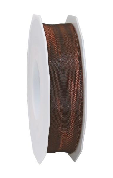 Taftband mit Drahtkante 25 mm x 25 m
