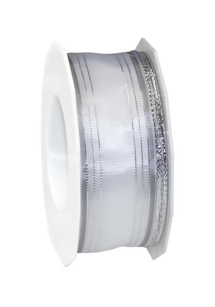 Taftband mit Drahtkante - Streifen 40 mm x 20 m
