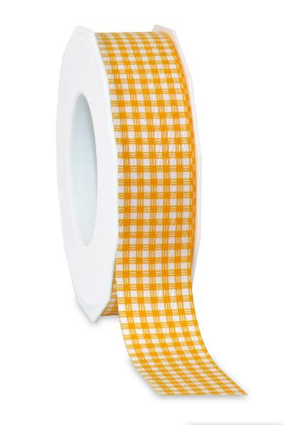 Karoband gelb aus 100% recyceltem Material 25 mm x 20 m