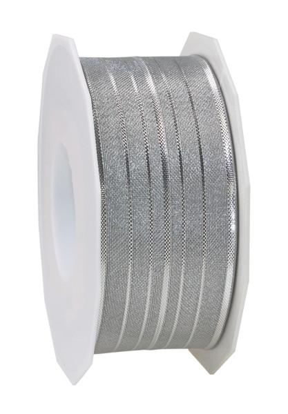 Dekorationsband mit Drahtkante - Streifen 40 mm x 20 m
