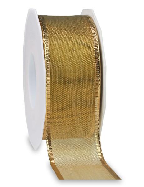 Lurexband mit glänzender Drahtkante 40 mm x 20 m