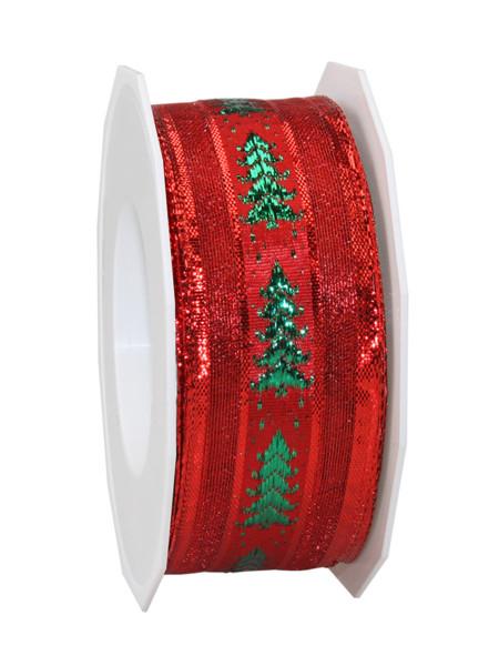 Dekorationsband - Weihnachtsbaum 40 mm x 20 m