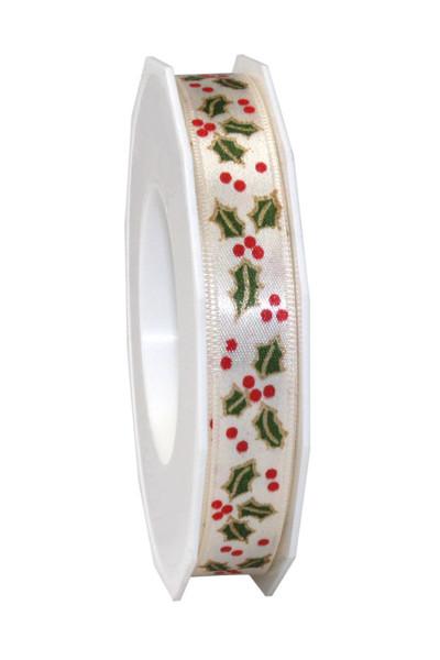 Satinband - Motiv Weihnachten 15 mm x 20 m