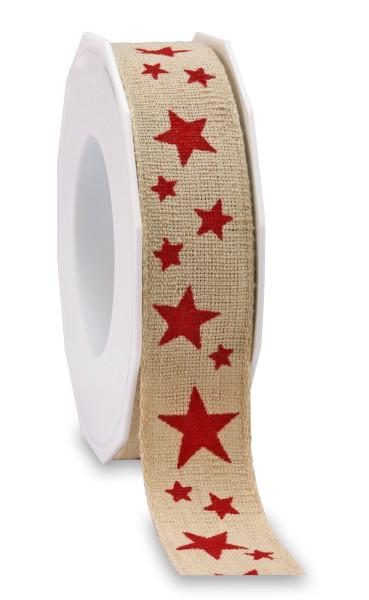 Leinenband - Sterne 25 mm x 15 m