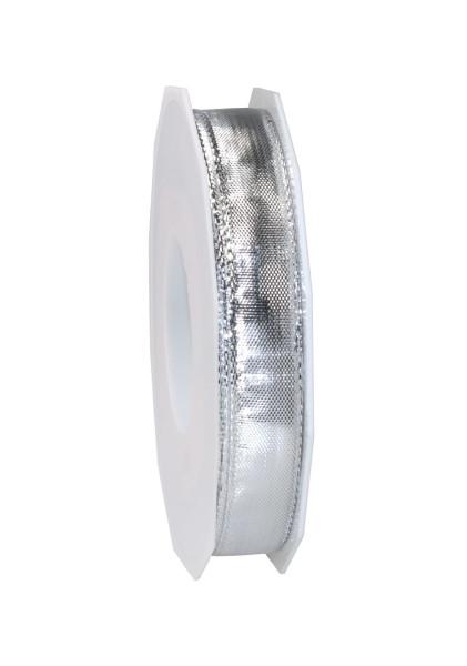 Dekorationsband glänzend mit Drahtkante 15 mm x 20 m